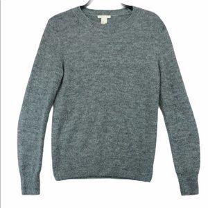 H&M grey crew neck knit sweater